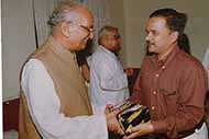The then Chief Minister Mr Ram Prakash Gupta rewarding at his official residence