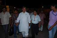Escorting Uttarkhand's present Chief Minister Mr Harish Rawat during his late night visit at Haridwar, when he was Union Minister