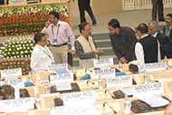 Discussing important issues with the officials at NDC meeting, Vigyan Bhawan Delhi while Gen Khanduri also present