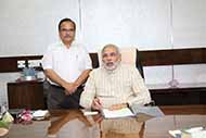 With Prime Minister Mr Narendra Modi at his personal study